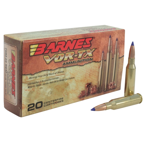 Barnes VOR-TX 7mm-08 Remington Ammo 120 Gr TTSX FBLF