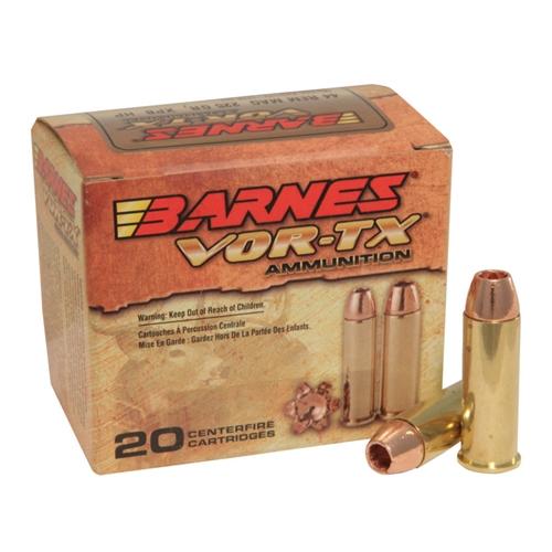 Barnes VOR-TX 44 Remington Magnum Ammo 225 Gr XPB HPLF
