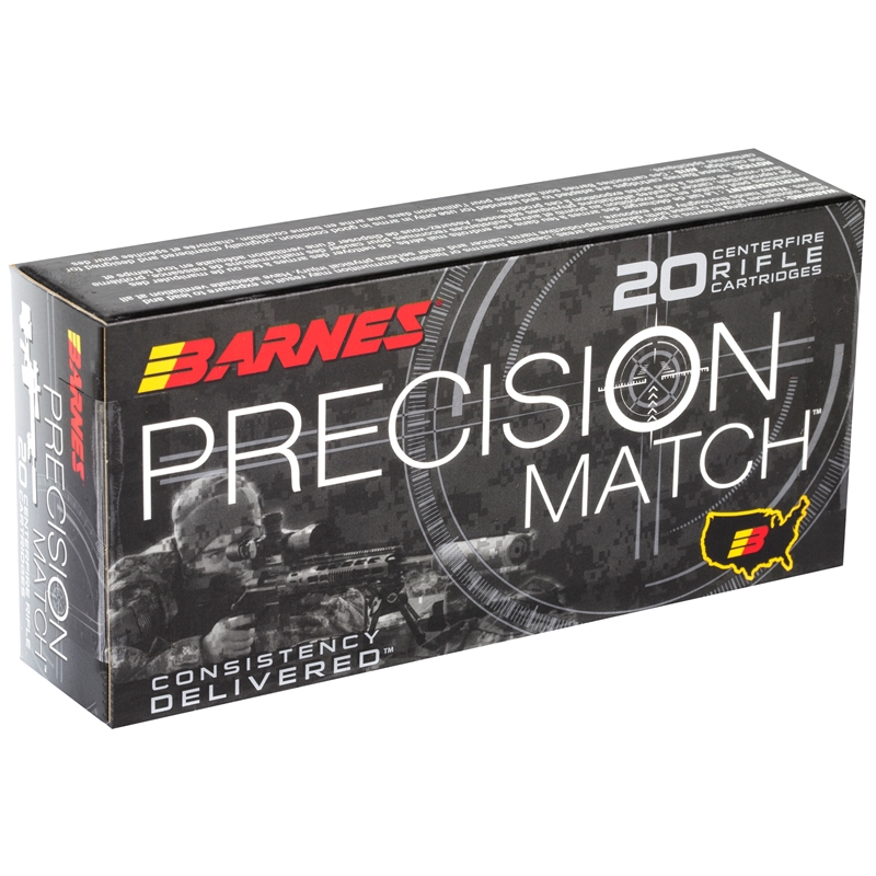 Barnes Precision Match 5.56x45mm  NATO Ammo 69 Grain Open-Tip Match