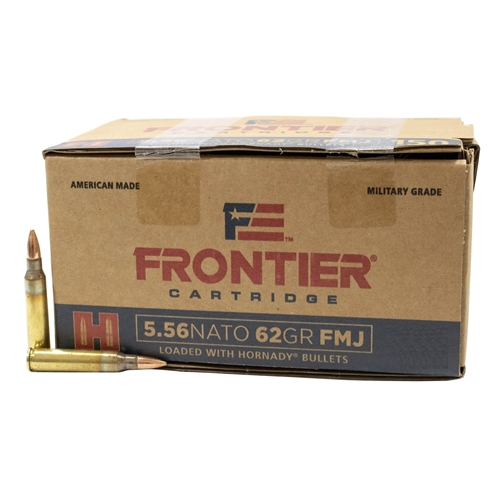 Frontier Military Grade 5.56 NATO Ammo 62 Grain Full Metal Jacket 600 Round Case