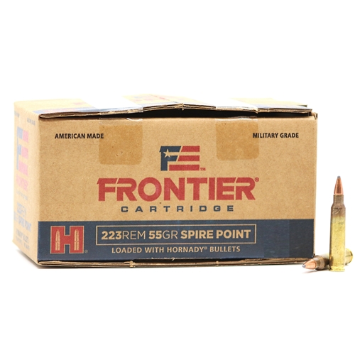 Frontier Military Grade 223 Remington Ammo 55 Grain Spire Point 600 Round Case
