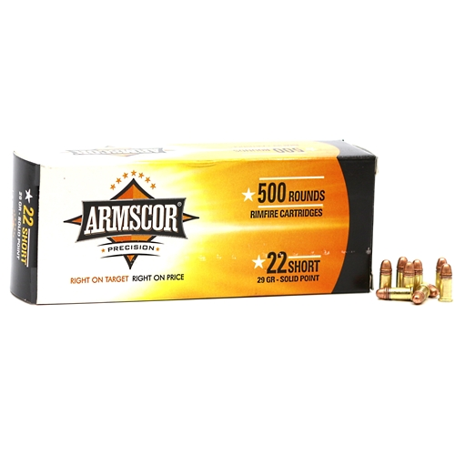 Armscor Rimfire 22 Short 29 Grain Solid Point