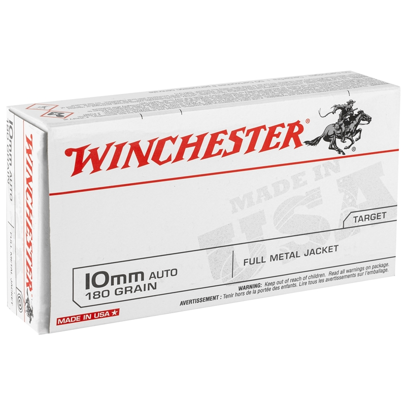 Winchester 10mm Auto 180 Grain Full Metal Jacket Target