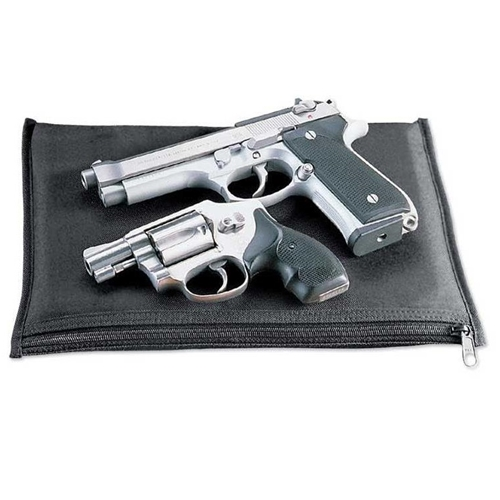 Uncle Mike's Small Rectangular Padded Pistol Pouch, Black
