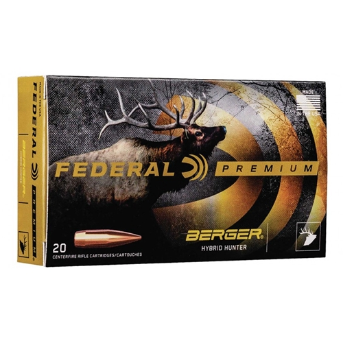 Federal 280 Ackley Improved Ammo 168 Grain Berger Hybrid Hunter
