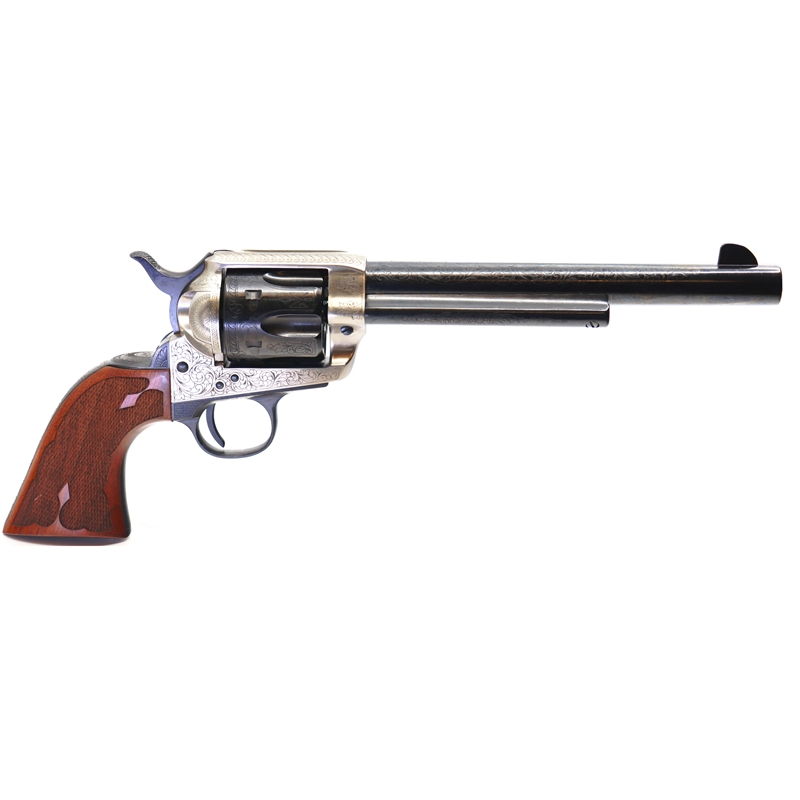 Cimarron Frontier 7.5 Revolver 45LC 6 Rounds Old Silver Engraved Frame