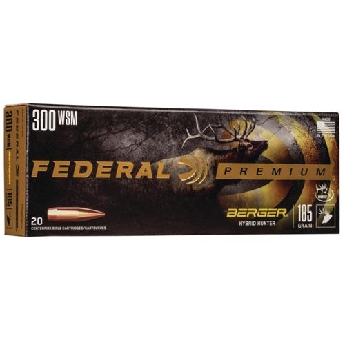 Federal Premium 300 Winchester Magnum Ammo 185 Grain Berger Hybrid Hunter