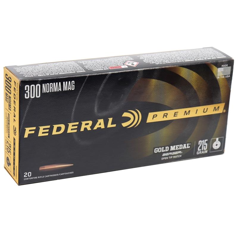 Federal Premium 300 Winchester Magnum Ammo 215 Grain Gold Medal Berger Hybrid