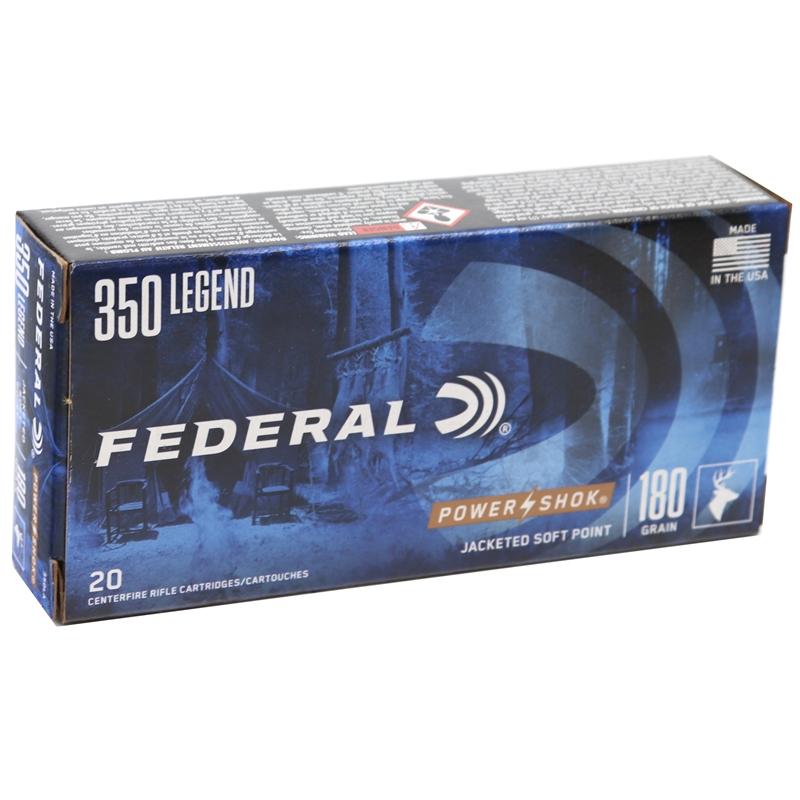 Federal 350 Legend Ammo 180 Grain Soft Point Power-Shok