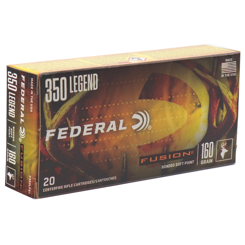 Federal Fusion 350 Legend Ammo 180 Grain Bonded Soft Point