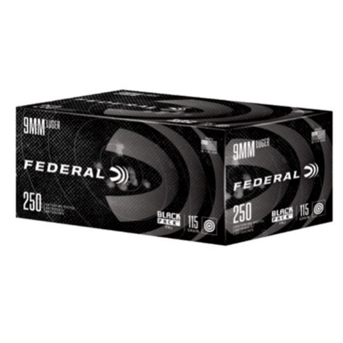 Federal Black Pack 9mm Luger Ammo 115 Grain FMJ 250 Rounds
