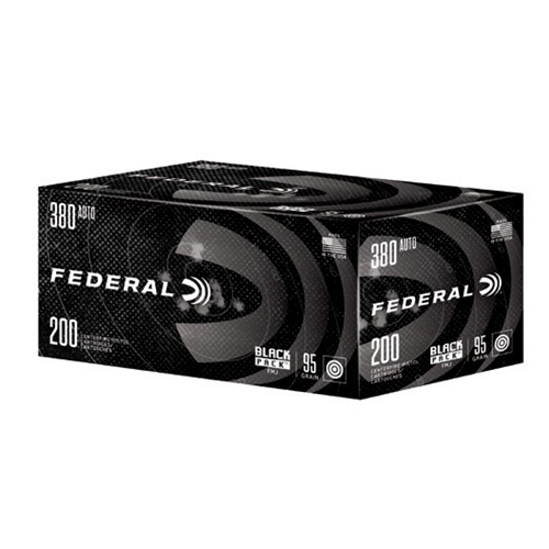 Federal Black Pack 380 Auto Ammo 95 Grain FMJ 200 Rounds