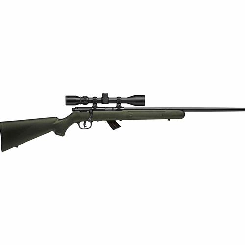 Savage Arms MKII-FXP Bolt Action Rifle 22 LR Barrel 5+1 Rounds OD Green Synthetic Stock