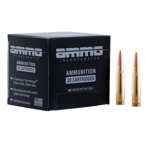 Ammo Inc 308 Winchester Ammo 168 Grain Boat Tail Hollow Point Signature Line