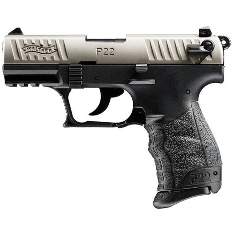 "Walther P22 Semi-Auto Handgun 22 LR 3.4"" Barrel 10+1 Rounds Black"