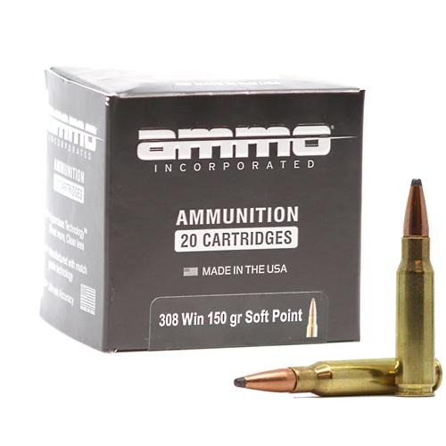 Ammo Inc 308 Winchester Ammo 150 Grain Soft Point Signature Line