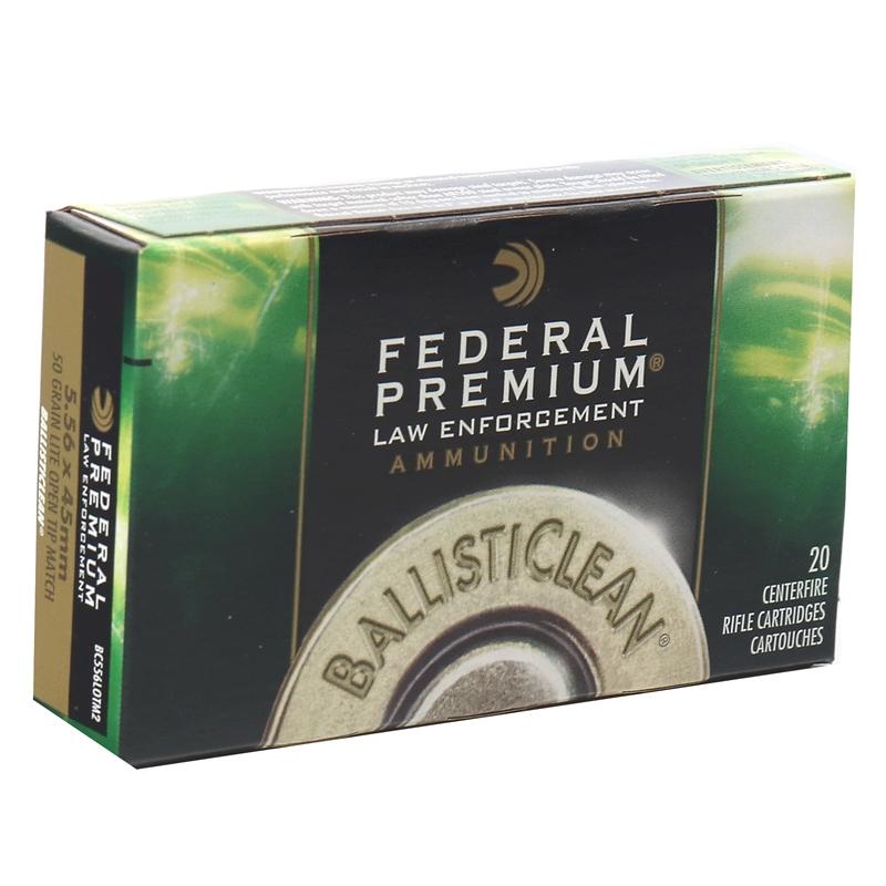 Federal BallistiClean RHT 5.56x45mm Ammo 50 Grain Lite Open Tip Match