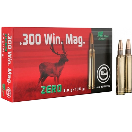 Geco Zero 300 Winchester Magnum Ammo 136 Grain Lead Free