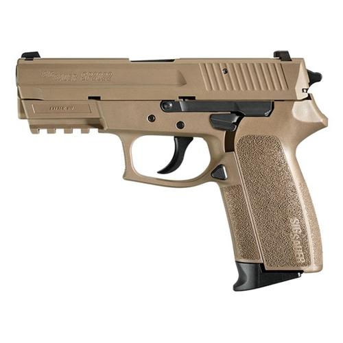 "Sig Sauer SP2022 Semi-Auto Handgun 9mm Luger 3.9"" Barrel 15+1 Rounds Flat Dark Earth"
