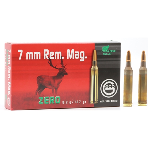 Geco Zero 7mm Remington Magnum Ammo 127 Grain Lead Free
