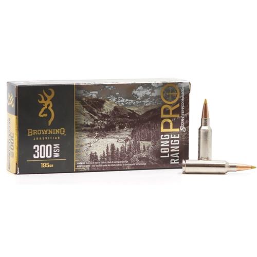 Browning Long Range Pro 300 Winchester Short Magnum Ammo 195 Grain Sierra MatchKing BTPT