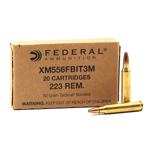 Federal FBI Duty 223 Remington Ammo 62 Grain Tactical Bonded Barrier Blind
