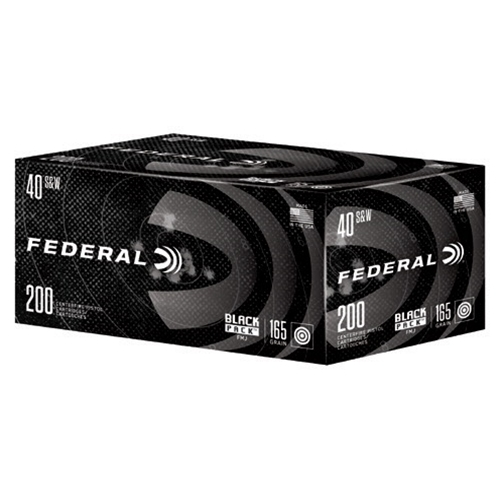 Federal Black Pack 40 S&W Ammo 165 Grain FMJ 200 Rounds
