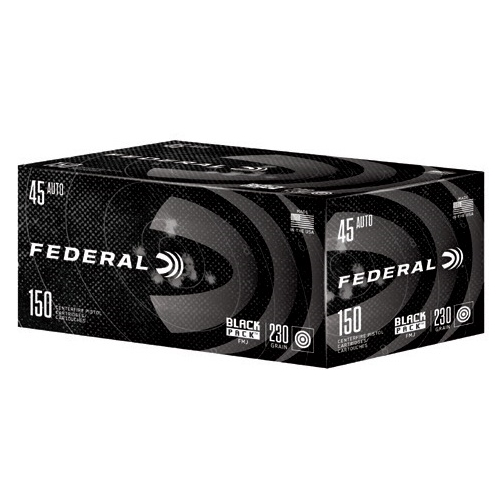 Federal Black Pack 45 ACP Ammo 230 Grain FMJ 150 Rounds