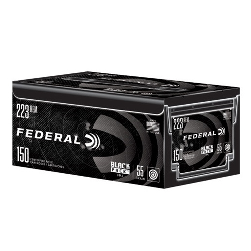 Federal Black Pack 223 Remington Ammo 55 Grain FMJ 150 Rounds