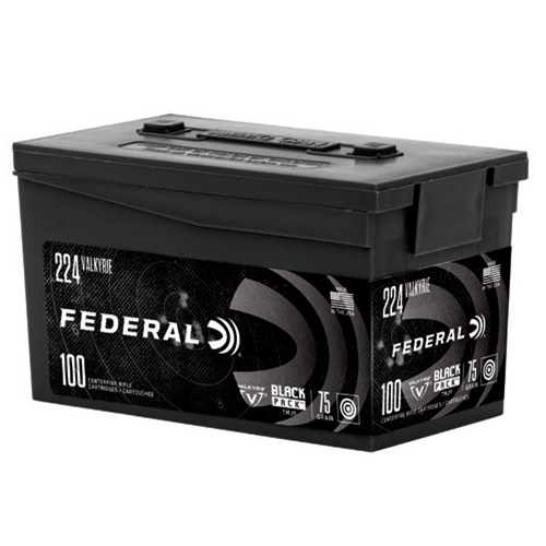 Federal Black Pack 224 Valkyrie Ammo 75 Grain TMJ 100 Rounds