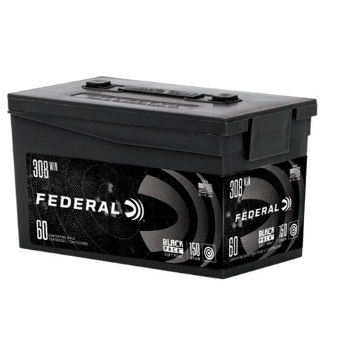 Federal Black Pack 308 Winchester Ammo 150 Grain JSP 60 Rounds