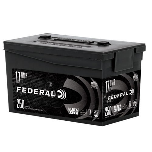 Federal Black Pack 17 HMR Ammo 17 Grain Jacketed Hollow Point 250 Rounds
