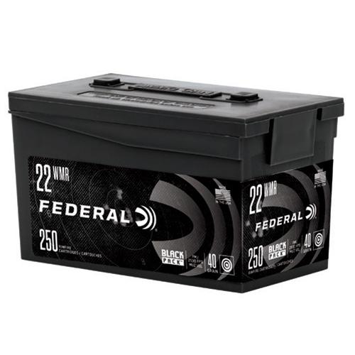 Federal Black Pack 22 WMR Ammo 40 Grain Full Metal Jacket 250 Rounds
