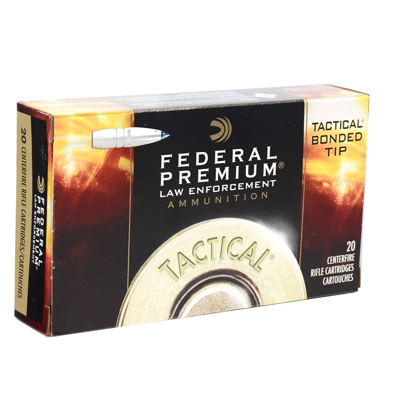Federal LE 308 Winchester Ammo 168 Grain TBBC Polymer Tip