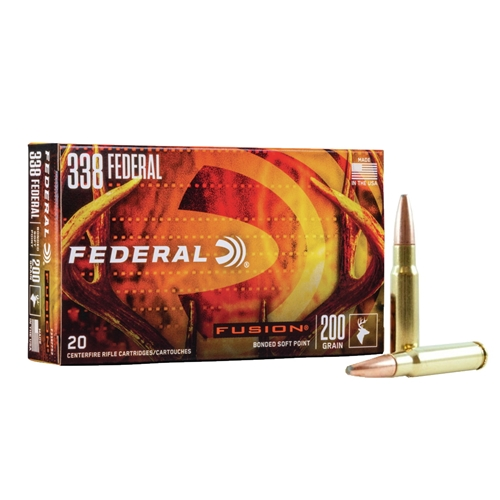 Federal Fusion 338 Federal Ammo 200 Grain Spitzer Boat Tail