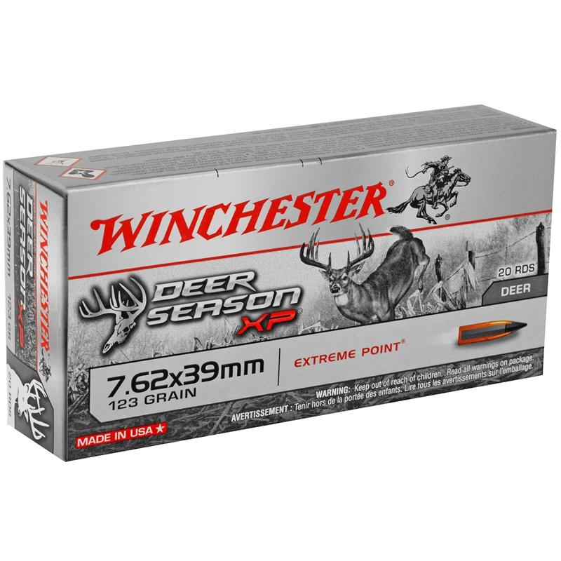 Winchester USA 7.62x39mm Russian Ammo 123 Grain Full Metal Jacket