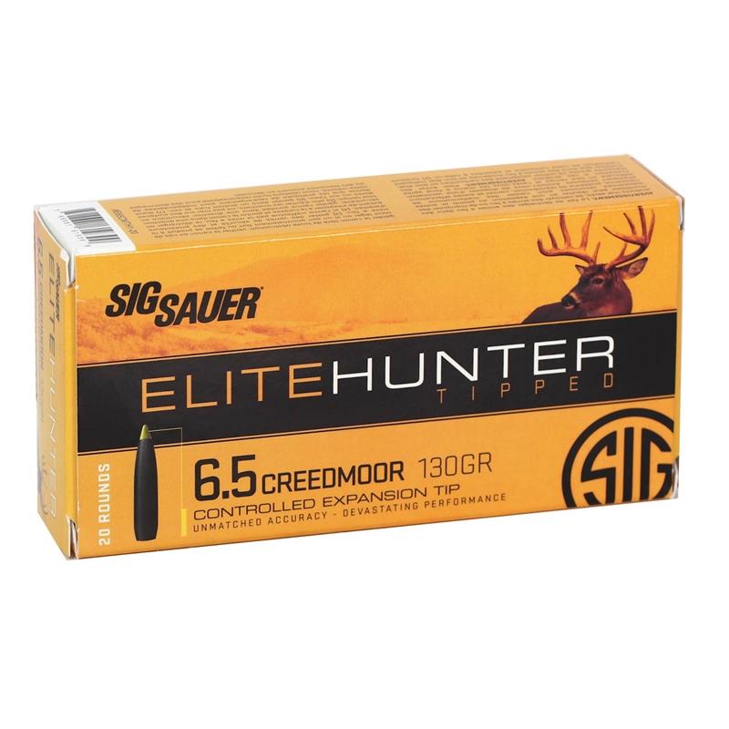 Sig Sauer Elite Hunter 6.5 Creedmoor Ammo 130 Grain Tipped Gameking