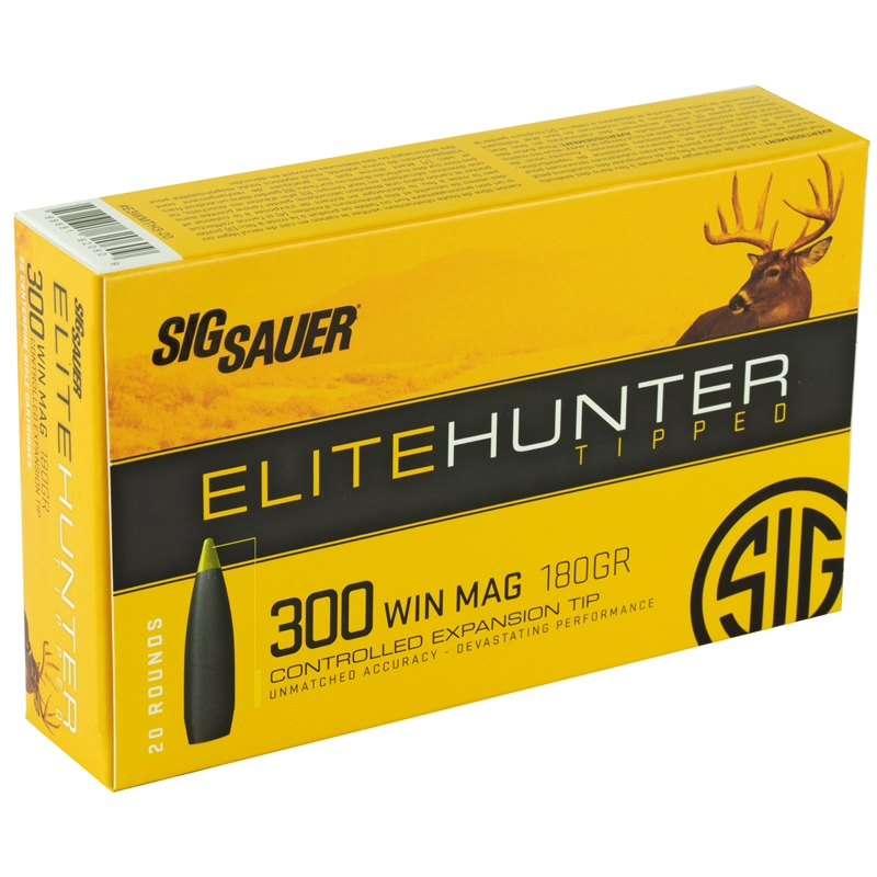 Sig Sauer Elite Hunter 300 Winchester Magnum Ammo 180 Grain Tipped Gameking