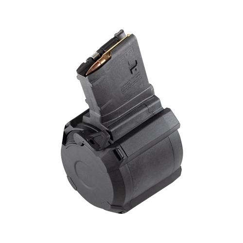 Magpul PMAG D-50 LR/SR Gen M3 308 Winchester 50 Round Drum Magazine Polymer Black