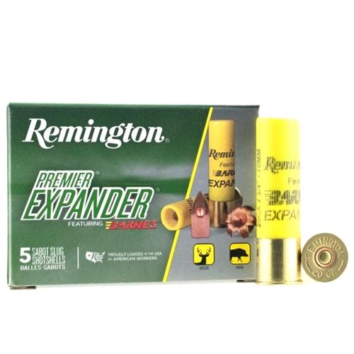 "Remington Premier Expander 20 Gauge Ammo 2-3/4"" 250 Grain Slug"