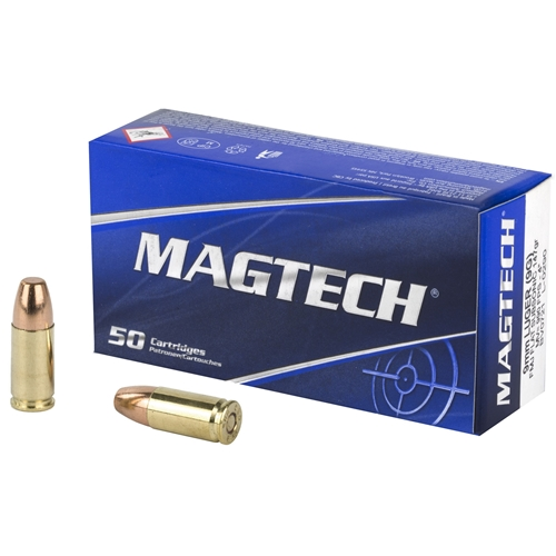 Magtech 9mm Luger Ammo 147 Grain Flat Subsonic Full Metal Jacket