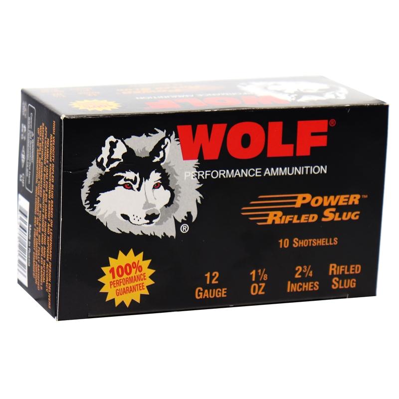 "Wolf Performance 12 Gauge Ammo 2 3/4"" 1 1/8 oz Power Rifled Slug"