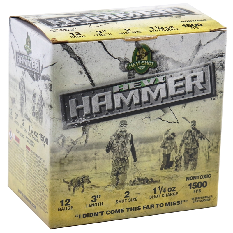 "Hevi-Shot Hevi-Hammer 12 Gauge Ammo 3"" 1-1/4 oz #2 Shot"