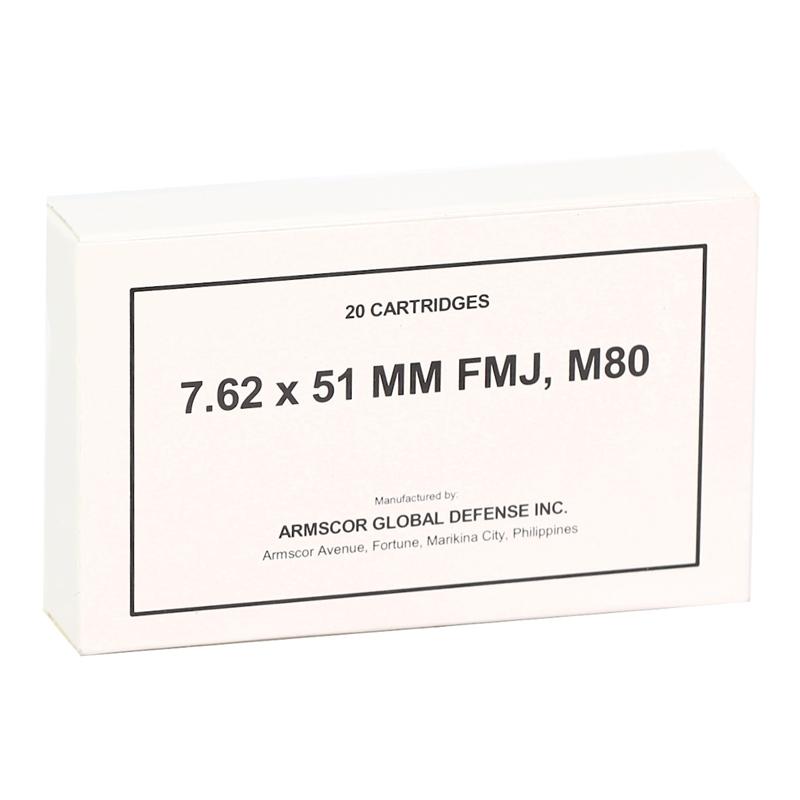 Armscor USA 7.62x51mm Ammo 147 Grain Full Metal Jacket