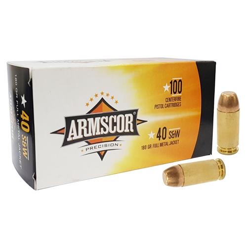 Armscor USA 40 S&W Ammo 180 Grain Full Metal Jacket Full Metal Jacket Value Pack