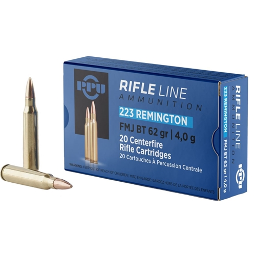 Prvi Partizan 223 Remington Ammo 62 Grain Full Metal Jacket Boat Tail