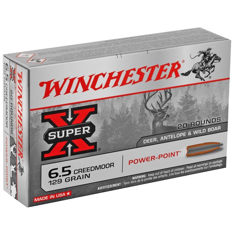 Winchester Super X  6.5 Creedmoor Ammo 129 Grain Power Point