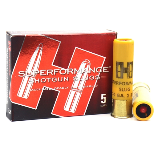 "Hornady Superformance 20 Gauge Ammo 2-3/4"" 250 Grain MonoFlex Sabot Slug Lead-Free"