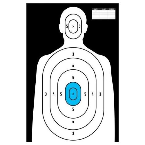 """ReFactor Tactical 25x35"""" Paper Pistol Iceman Target 50 Pack"""