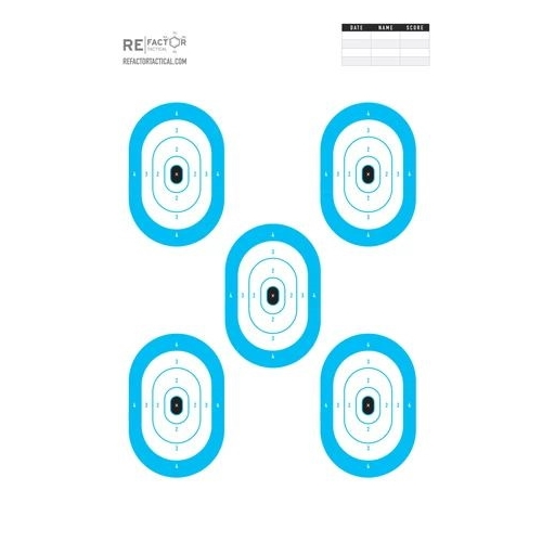 "ReFactor Tactical 25x35"" Paper Pistol Keyhole Target 50 Pack"